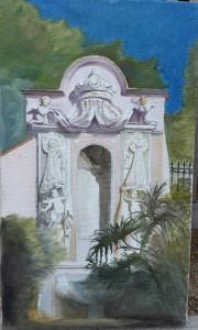 Une fontaine du parc St-Martin, sur le Rocher (Monaco)